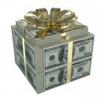 קופסאת מתנה שמורכבת מכסף