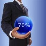 אדם שלקח משכנתא של 70%