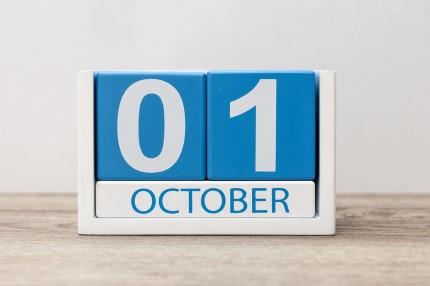 קוביית חודשי השנה אוקטובר