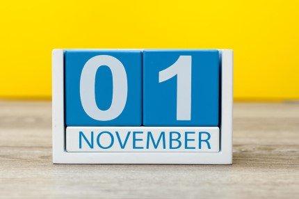 קוביית חודשי השנה נובמבר