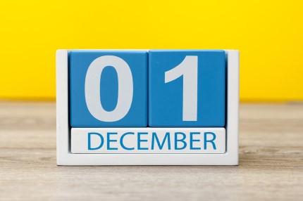 קוביית חודשי השנה דצמבר