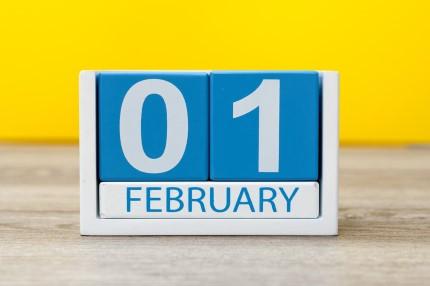 קוביית חודשי השנה פברואר