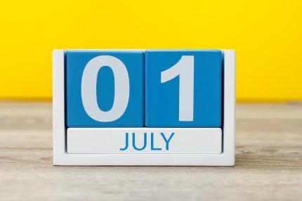 קוביית חודשי השנה יולי