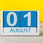 קוביית חודשי השנה אוגוסט