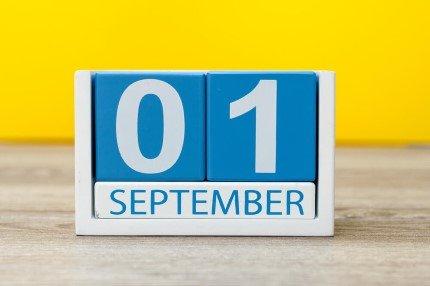 קוביית חודשי השנה ספטמבר